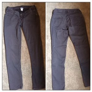 Grey Side Panel Maternity Jeans